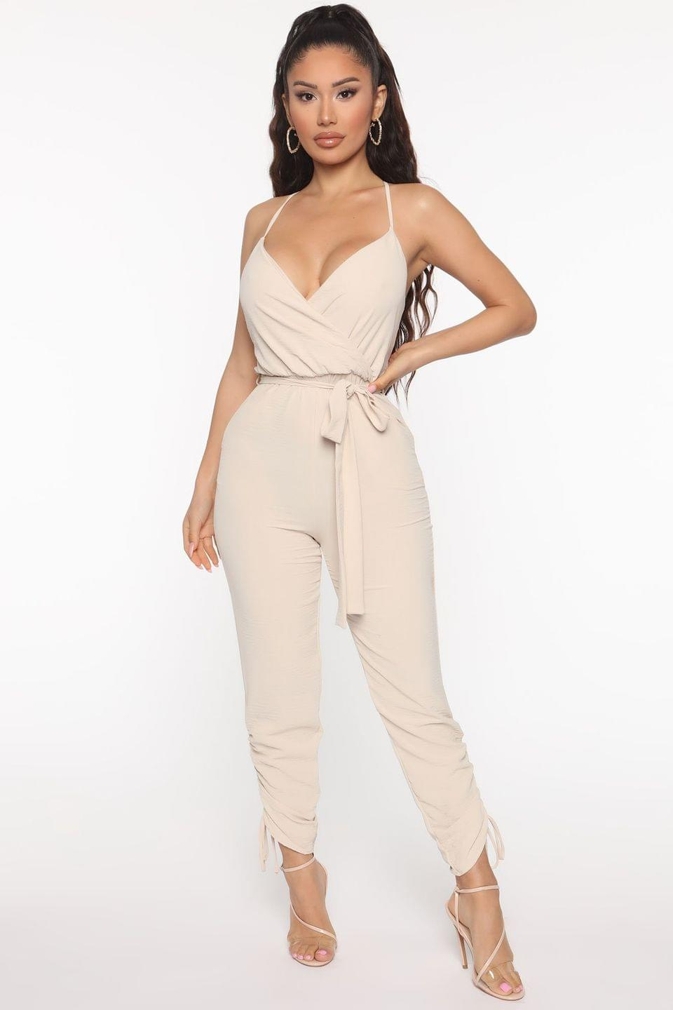 Women's No Other Man Jumpsuit - Oatmeal