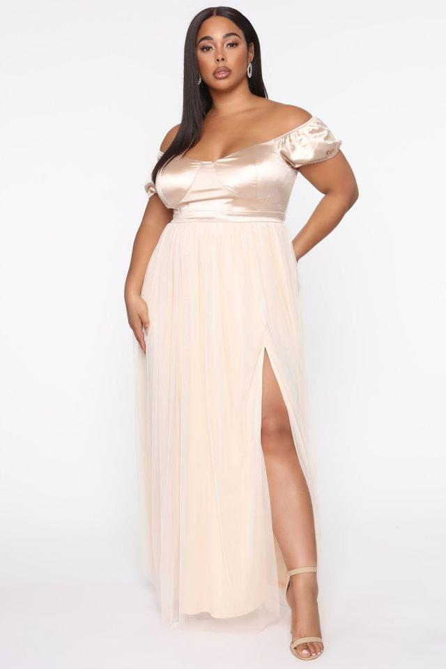 WOMEN Mid Summer's Night Dress - Nude