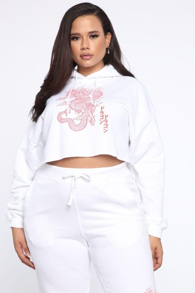 WOMEN Tame Me Cropped Hoodie - White