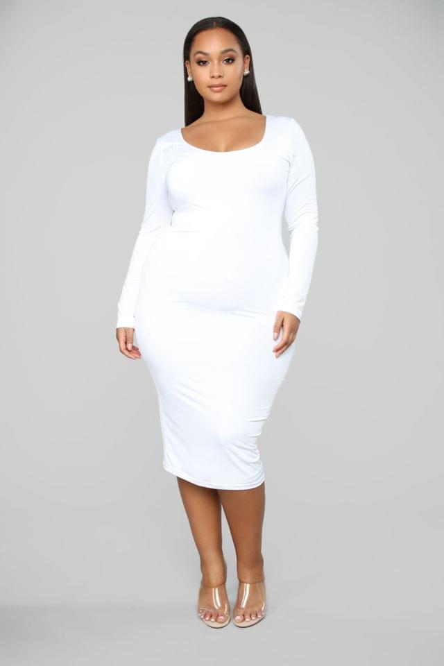 WOMEN All These Simple Things Midi Dress - White