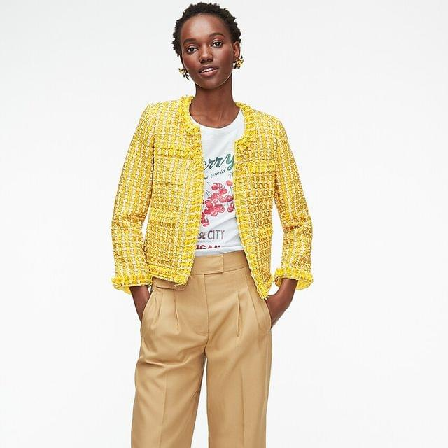WOMEN Collection lady jacket in English golden tweed