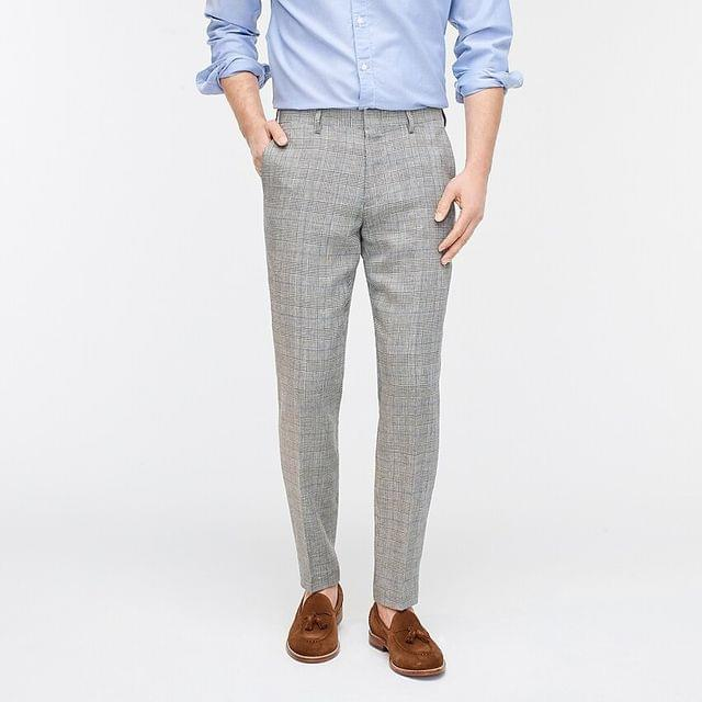 MEN Ludlow Slim-fit suit pant in Italian linen-wool