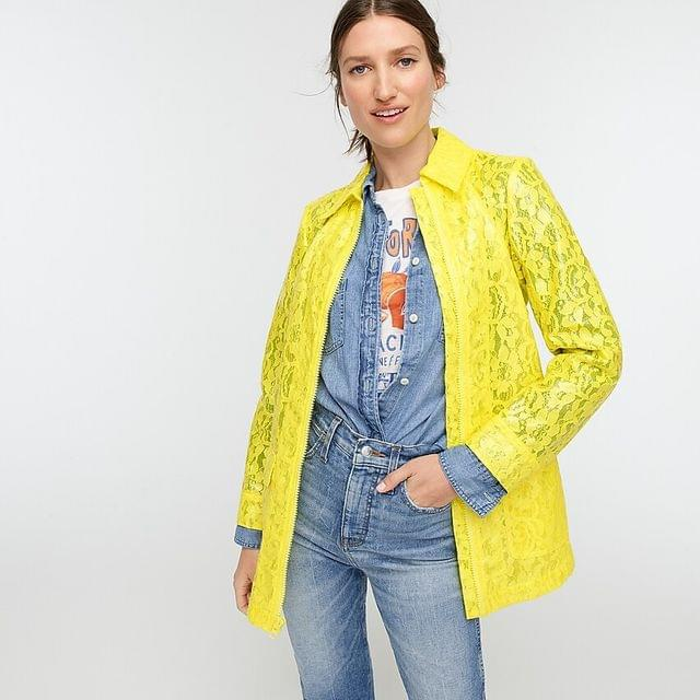 WOMEN Collection coated lace coat