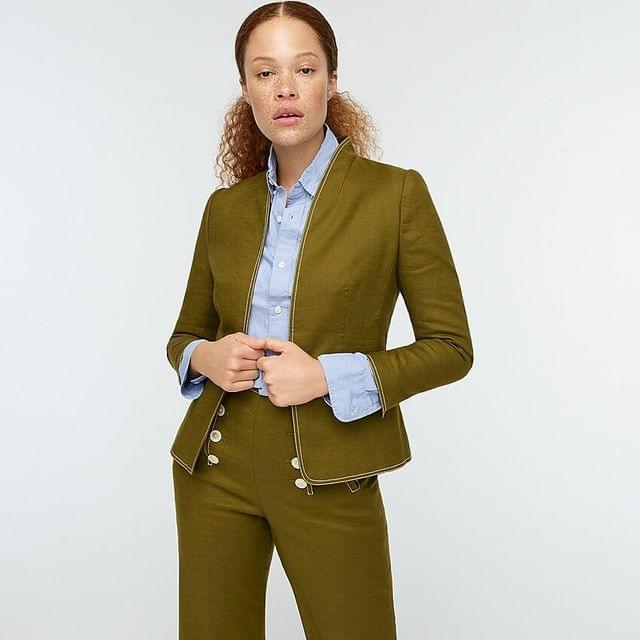 WOMEN Going-out blazer in stretch linen