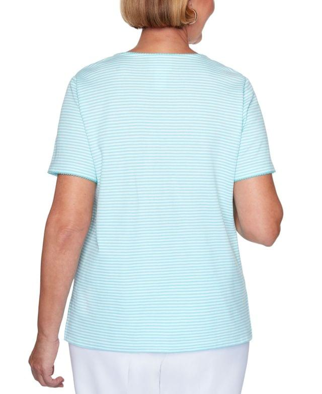 WOMEN Spring Lake Striped Embroidered Top