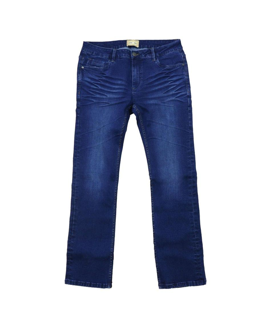 Men's Men's Washed Straight Leg Stretch Jeans