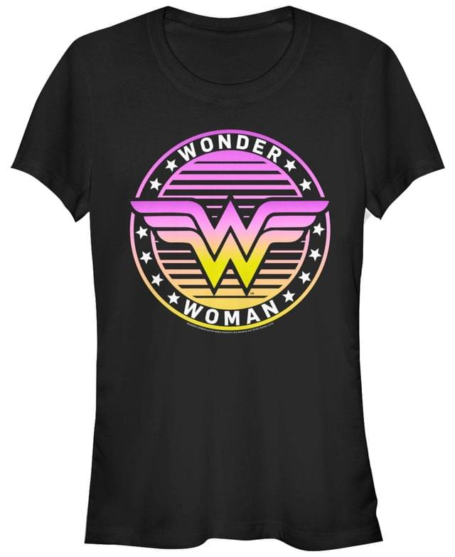 Women's DC Wonder Woman Gradient Logo Women's Short Sleeve T-Shirt