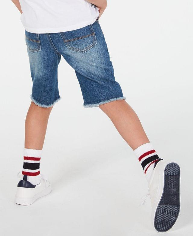 KIDS Destructed Cotton Denim Shorts, Toddler Boys, Created for Macy's
