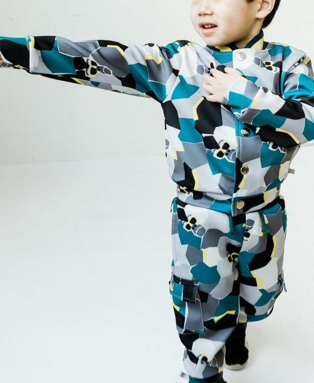 Boy's Toddler and Little Boys Tossed Print Gorilla Tracksuit Jacket