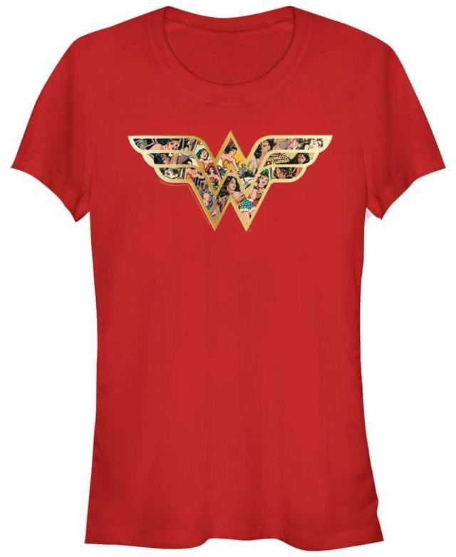 Women's DC Wonder Woman Portrait Fill Logo Women's Short Sleeve T-Shirt