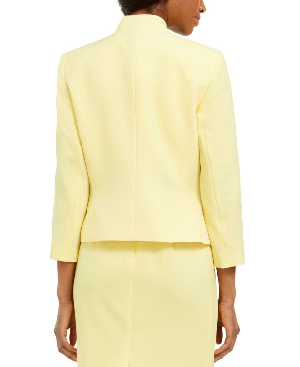 Women's Crepe Cut-Out Collar Jacket
