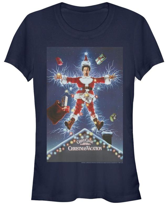 WOMEN National Lampoon's Christmas Vacation Clark Griswold Electric Santa Poster Women's Short Sleeve T-Shirt