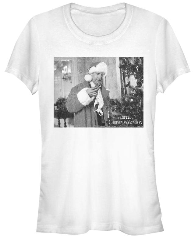 Women's National Lampoon's Christmas Vacation Lingerie Clark Portrait Women's Short Sleeve T-Shirt