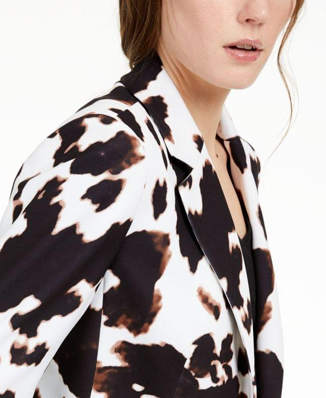 WOMEN X-Fit Cow-Print One-Button Blazer
