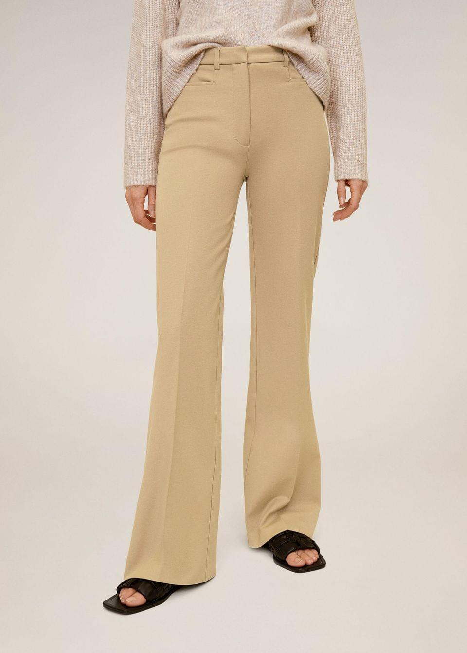 Women's Flared cotton trousers