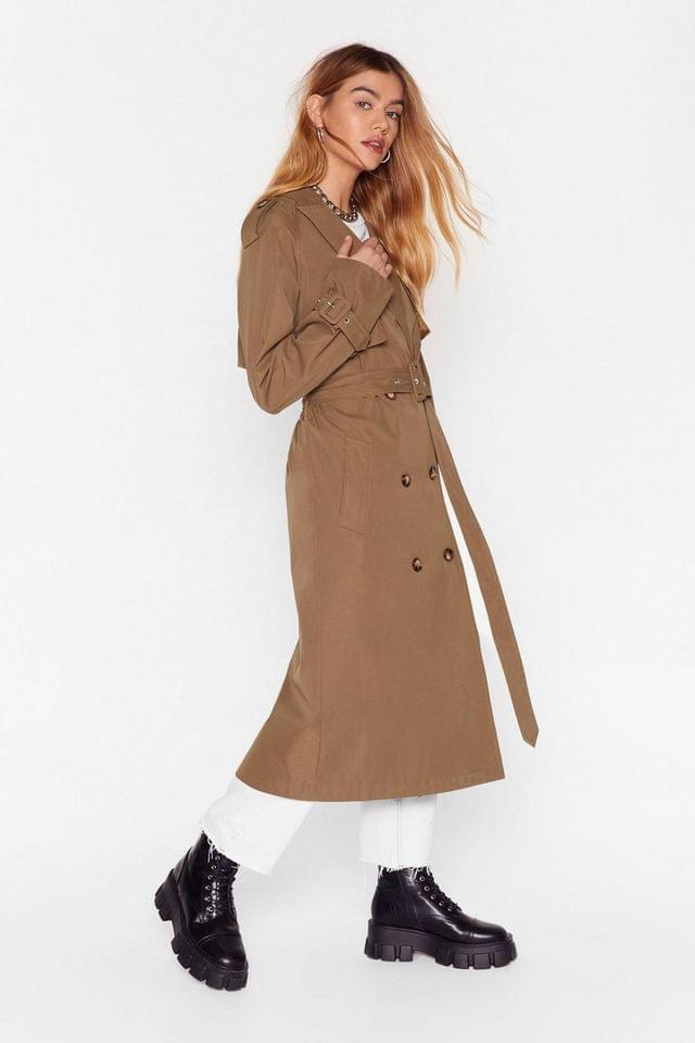 WOMEN Hey There Tailor Double Breasted Trench Coat