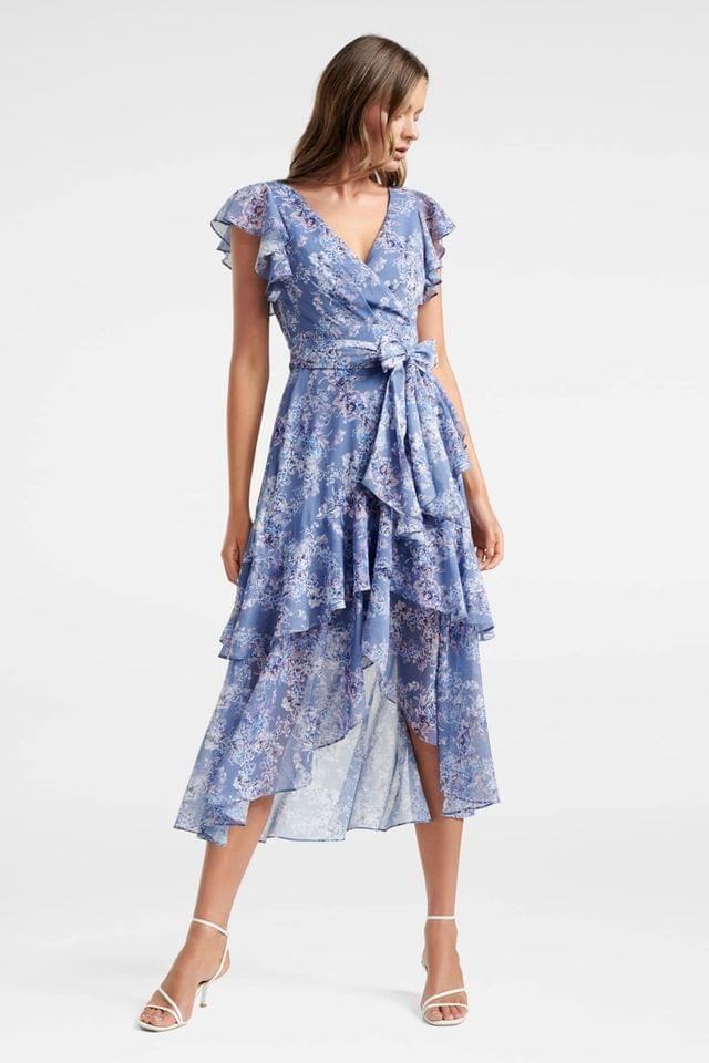 WOMEN Forever New Wrap Ruffle Floral Dress