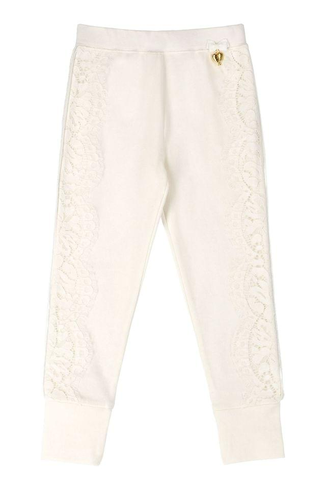 KIDS Angel's Face White Madonna Joggers