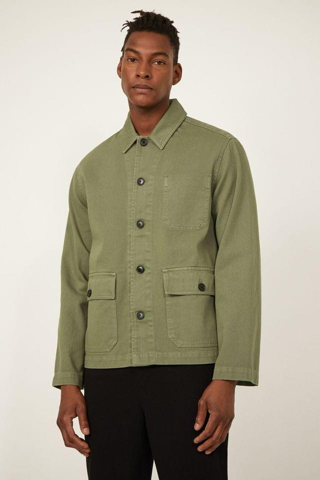 MEN Warehouse Khaki Utility Jacket