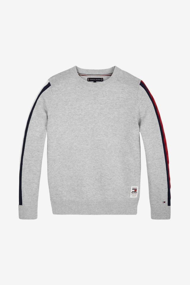 KIDS Tommy Hilfiger Cable Sleeve Sweater