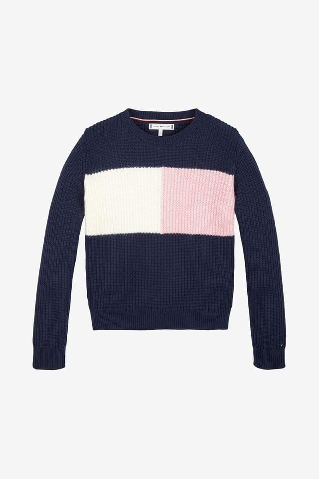 KIDS Tommy Hilfiger Flag Colourblock Sweater