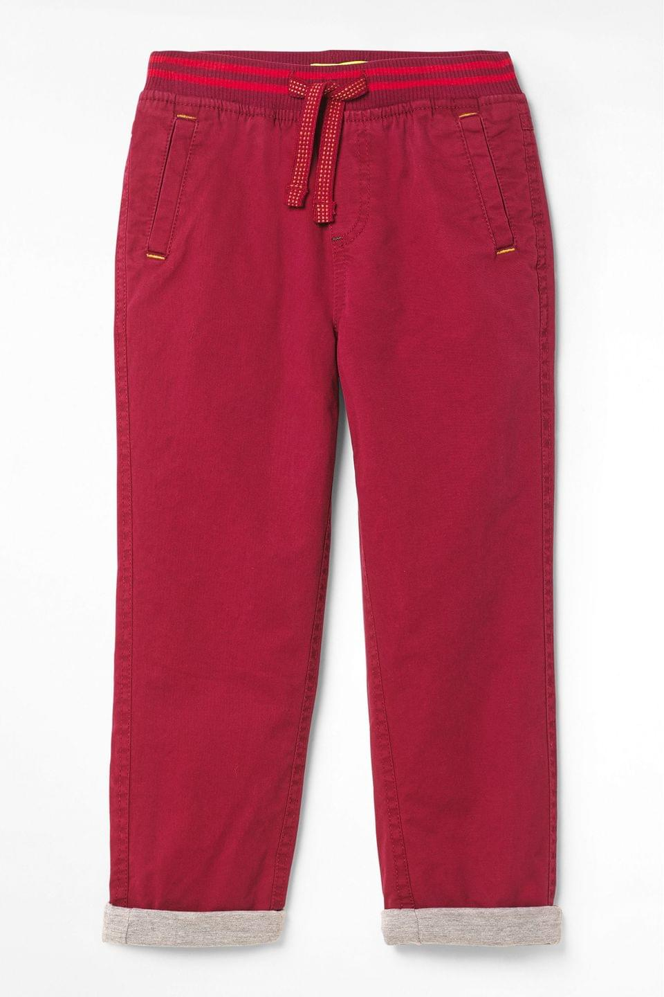 Boy's White Stuff Red Kids Expedition Twill Chino Trousers