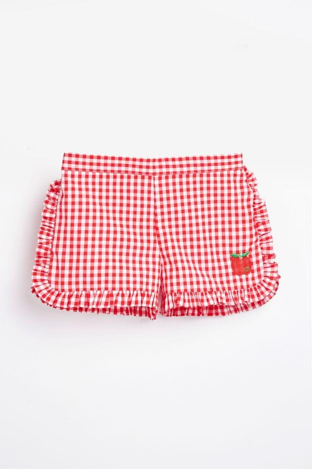 KIDS Sonia Rykiel Paris Red Gingham Shorts