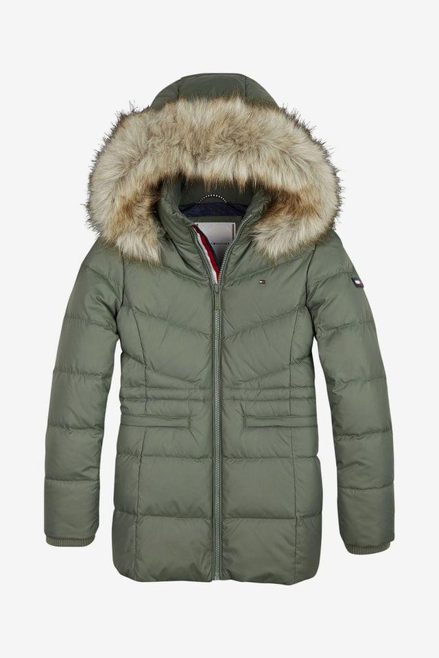 KIDS Tommy Hilfiger Green Essential Down Coat