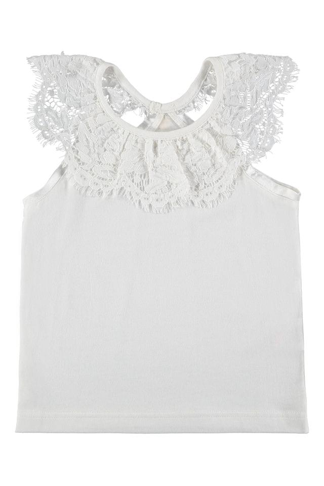 KIDS Angel's Face White Lucille Top