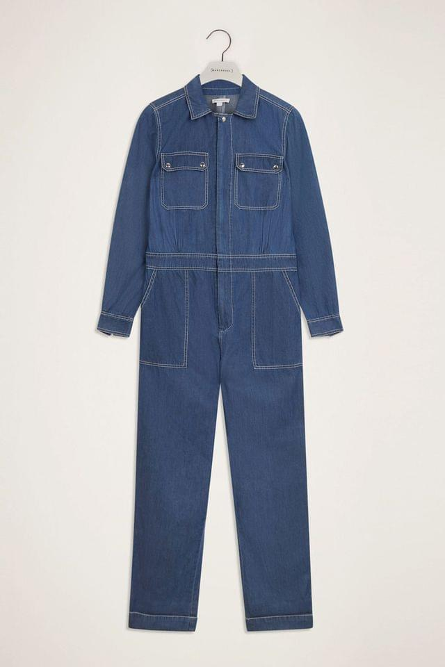 WOMEN Warehouse Blue Denim Boilersuit