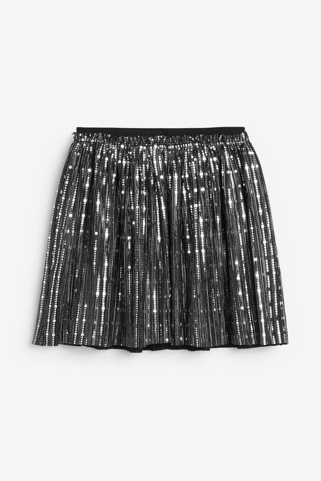 KIDS Silver/Black Foil Skirt (3-16yrs)