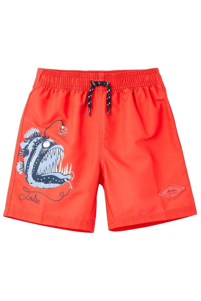 KIDS Joules Red Oceanside Placement Print Swim Shorts