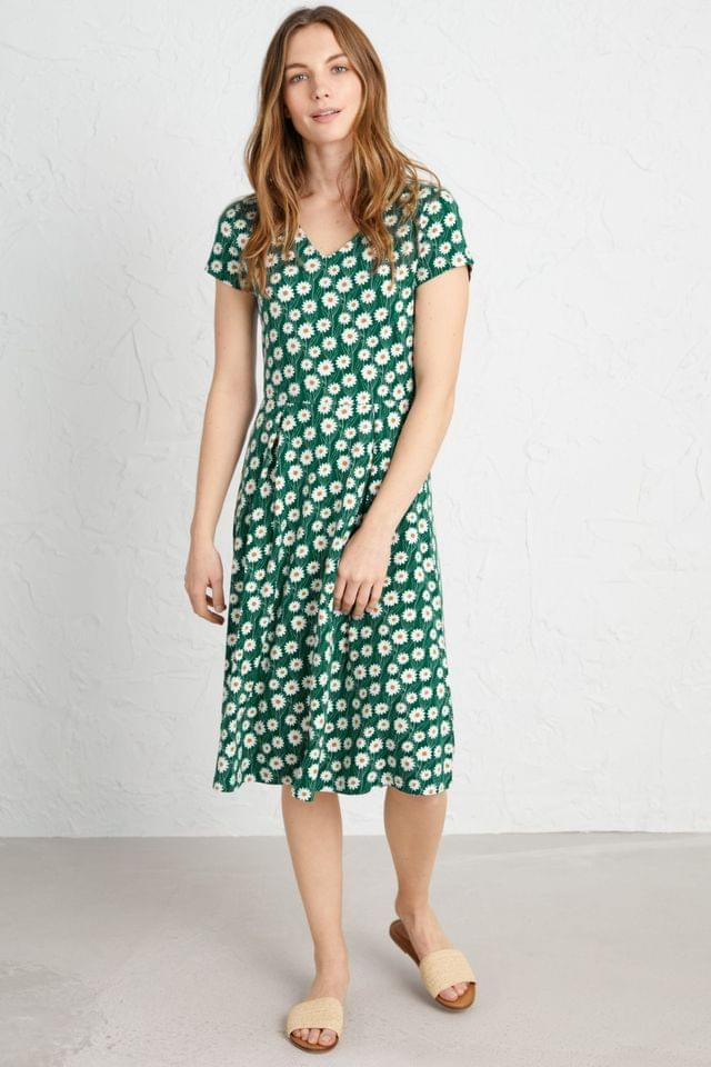 WOMEN Seasalt Green Pier View Dress