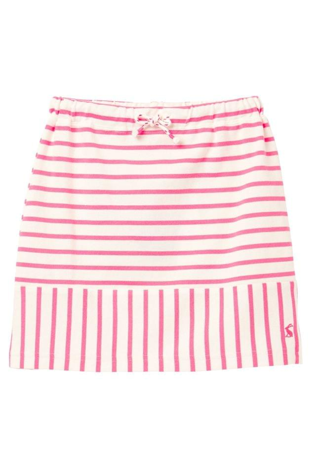 Girl's Joules Pink Harbour Skirt Striped Skirt