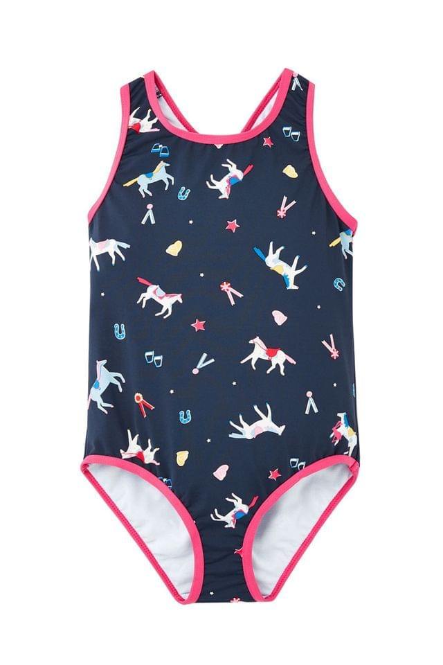 KIDS Joules Blue Briony One Piece Swimsuit