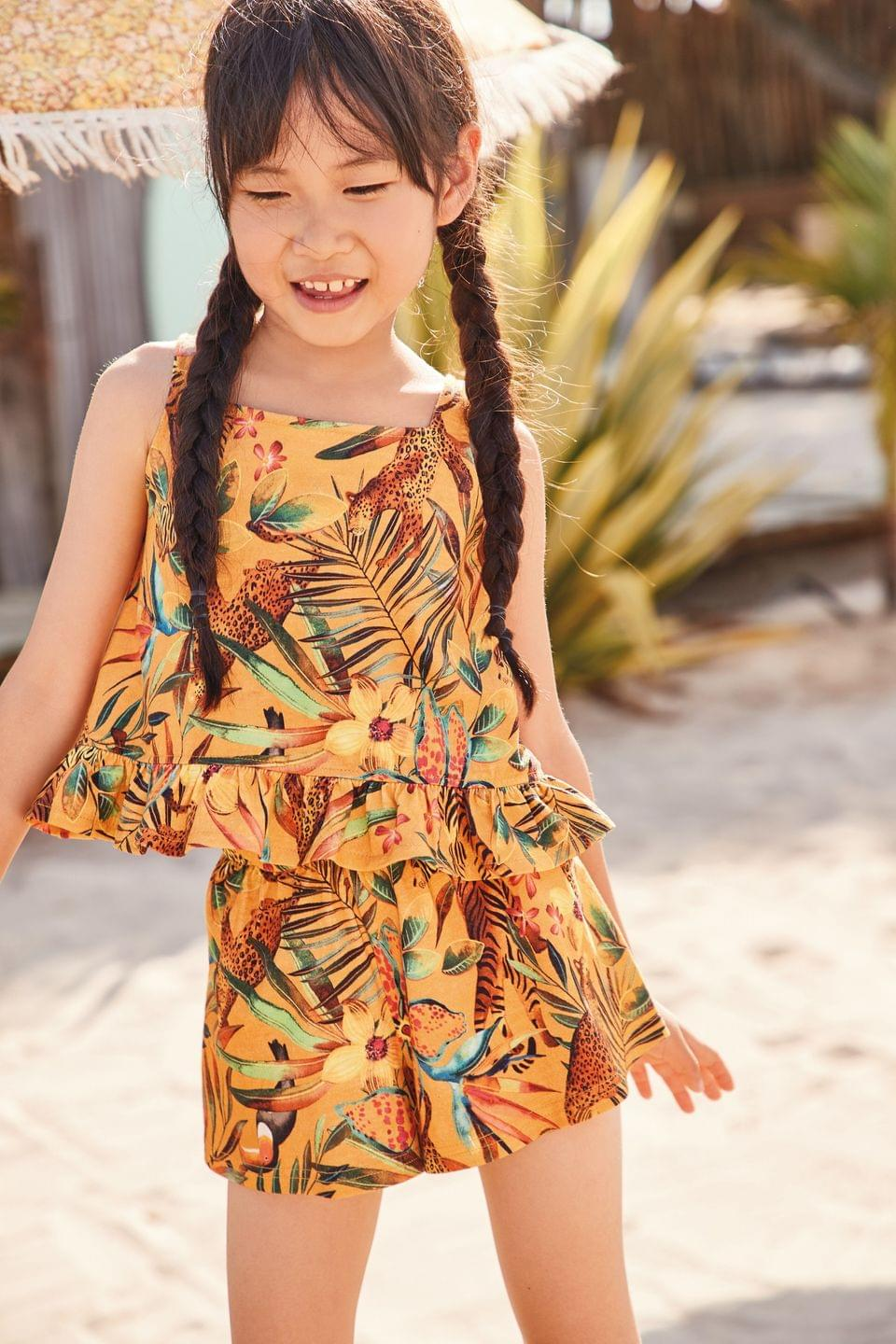 Girl's Bright Floral Vest And Shorts Co-ord Set (3-16yrs)