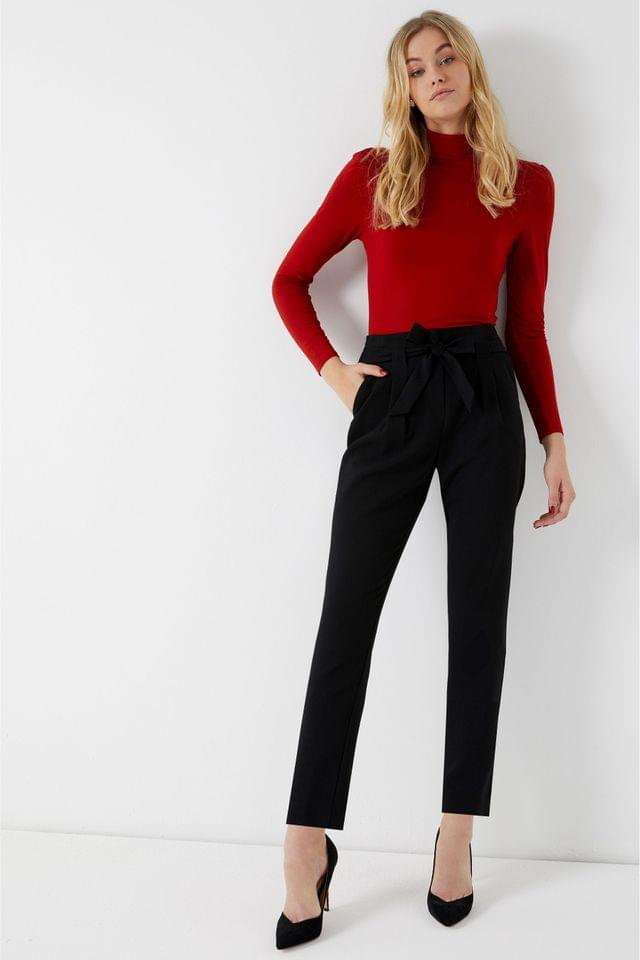 WOMEN Lipsy Tailored Elasticated Waist Tapered Trousers