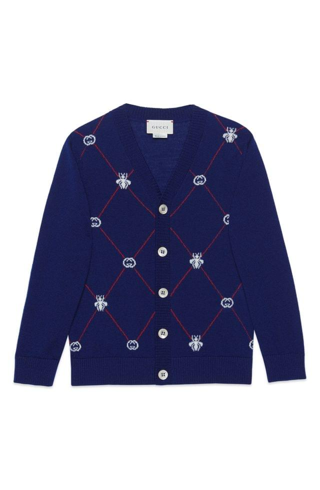 Boy's Gucci Logo Cardigan (Little Boy & Big Boy)