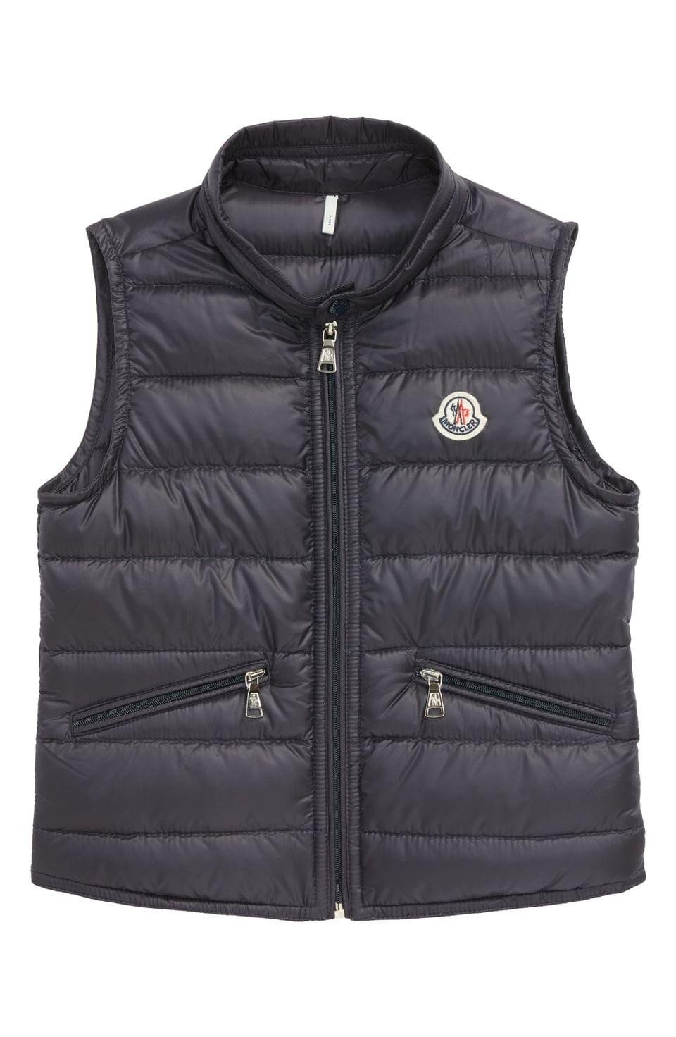 Boy's Moncler Water Resistant Quilted Down Nylon Vest (Little Kid & Big Kid)
