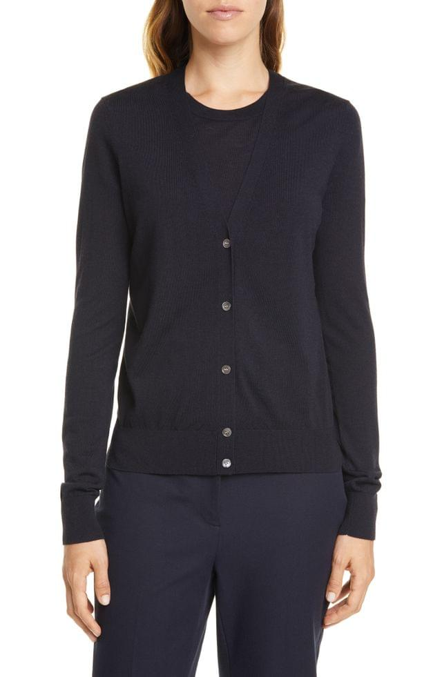 WOMEN Theory Regal V-Neck Cardigan