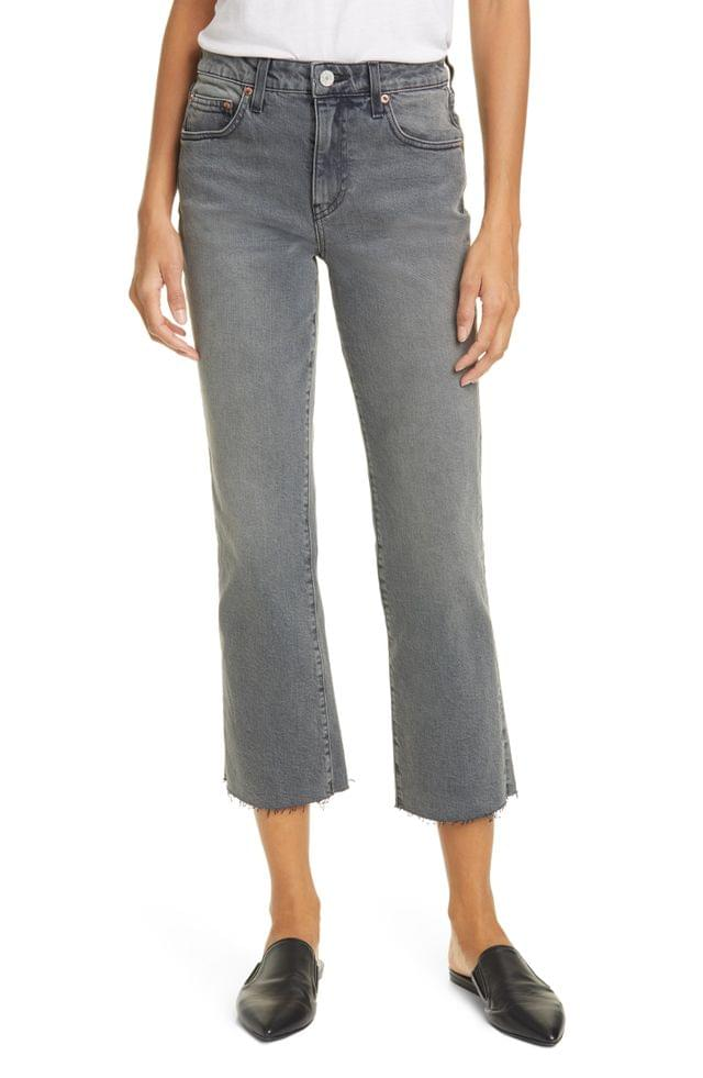 WOMEN TRAVE Colette High Waist Crop Flare Jeans (Touch of Grey)