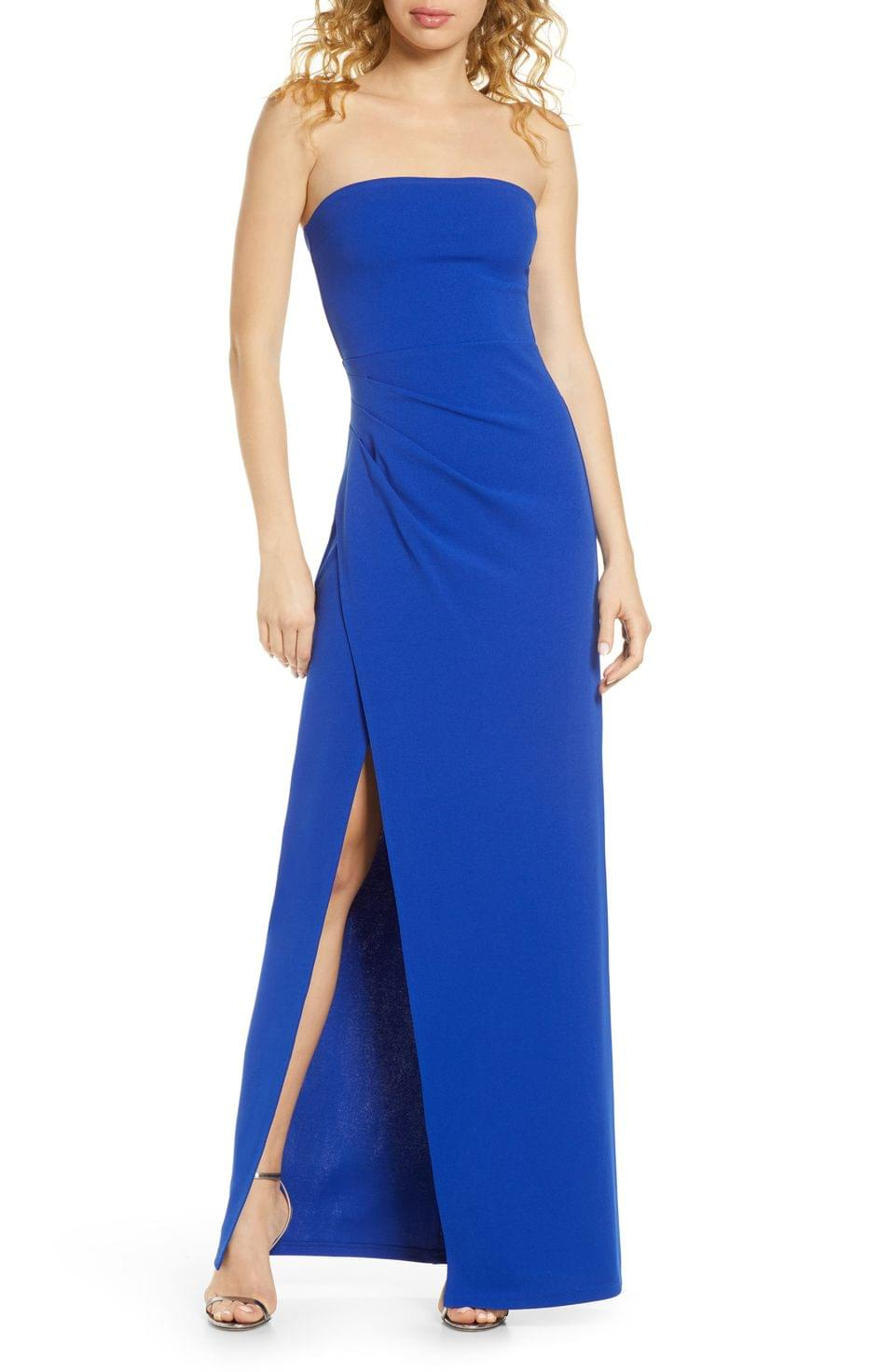 Women's Lulus Foxy Strapless Gown