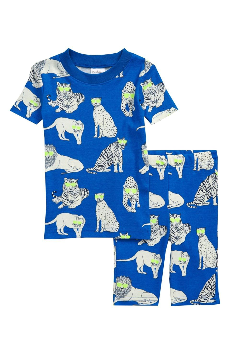 Boy's Mini Boden Glow in the Dark Fitted Two-Piece Pajamas (Toddler, Little Boy & Big Boy)