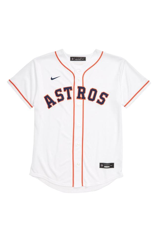KIDS MLB LOGO x Nike Astros Home Baseball Jersey (Big Boy)
