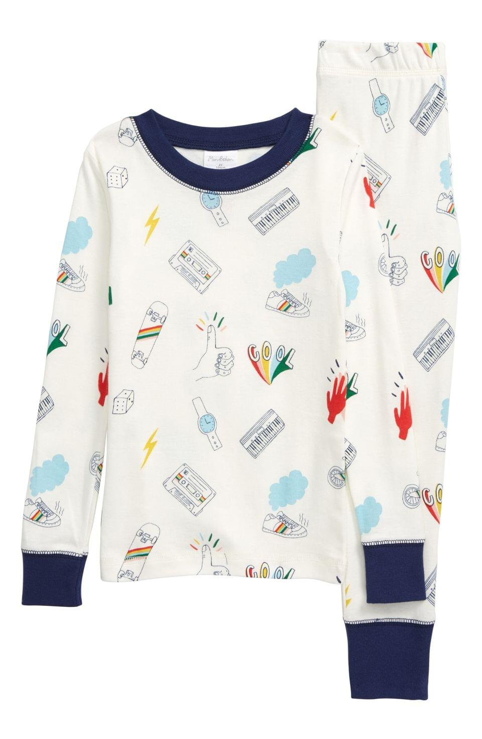 Boy's Boden Glow in the Dark Fitted Two-Piece Pajamas (Toddler, Little Boy & Big Boy)