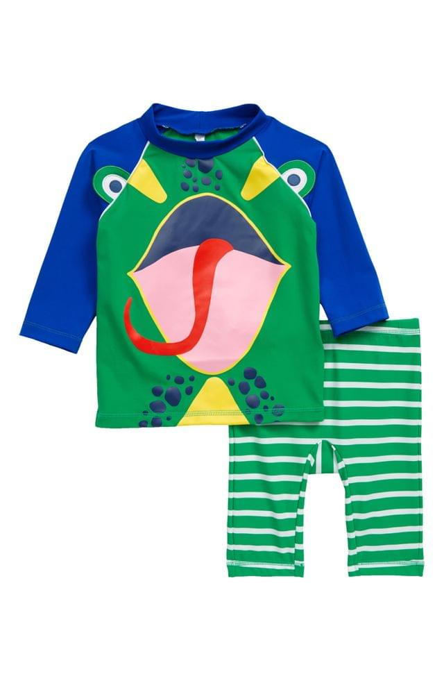 Boy's Mini Boden Lizard Surf Suit (Toddler, Little Boy & Big Boy)