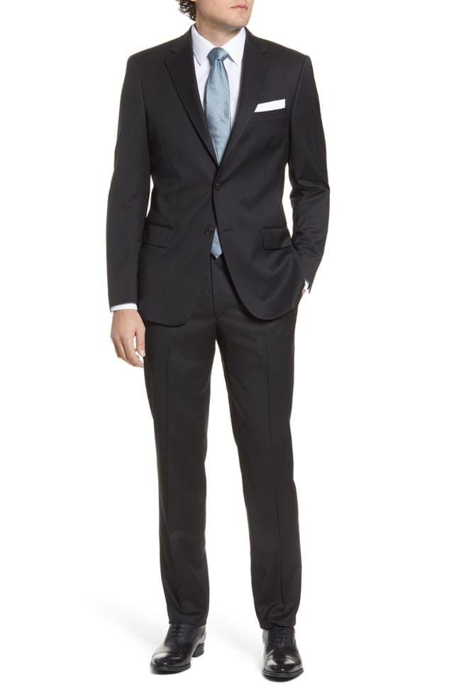 MEN Hart Schaffner Marx New York Classic Fit Solid Stretch Wool Suit