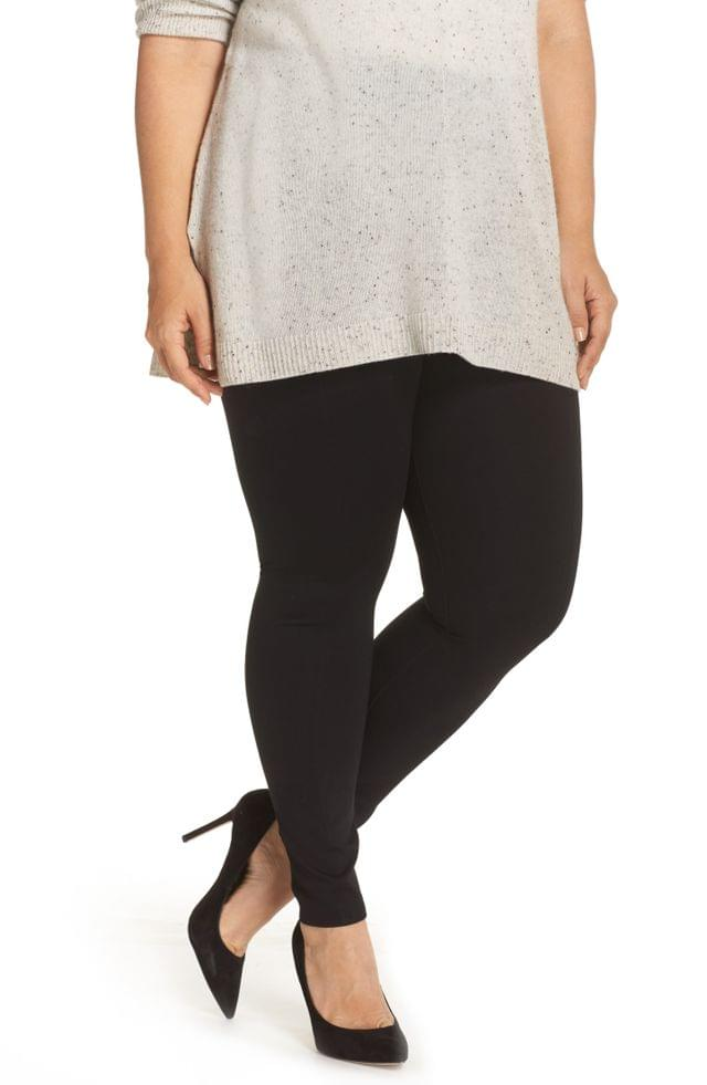 WOMEN Lyss Center Seam Ponte Leggings (Plus Size)