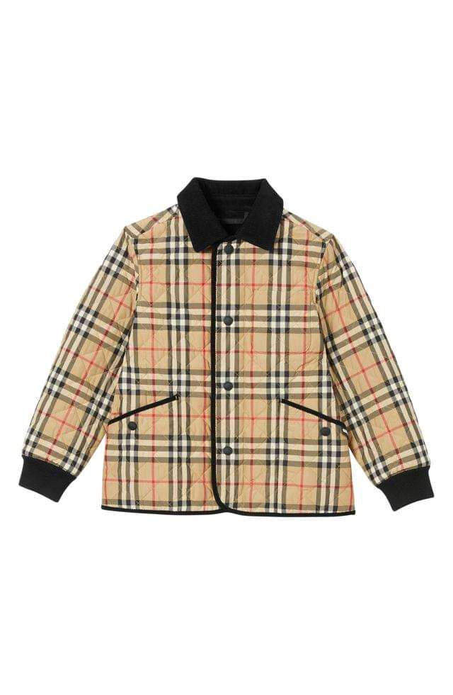 KIDSS Burberry Culford Archive Check Quilted Jacket (Toddler Girls, Little Girls & Big Girls)