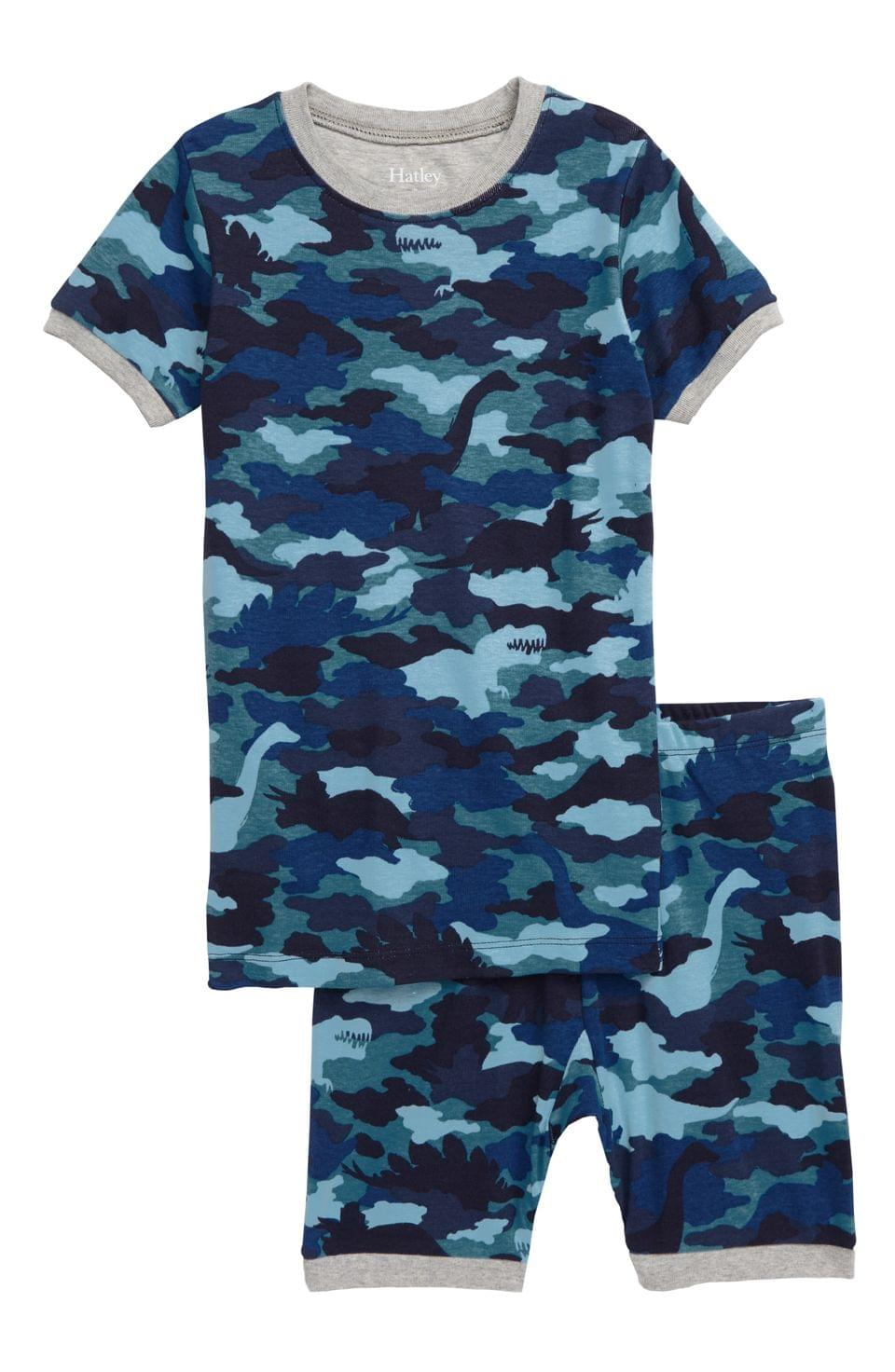 Boy's Hatley Dino Camo Organic Cotton Fitted Two-Piece Pajamas (Toddler, Little Boy & Big Boy)